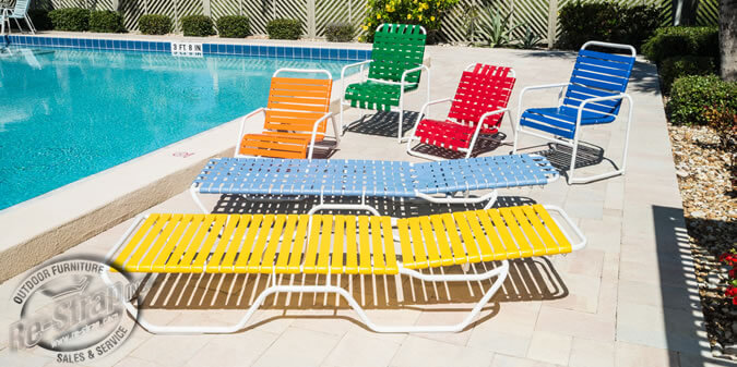 Re-Strap, Inc. | Outdoor Pool Furniture | Reupholster Cushions